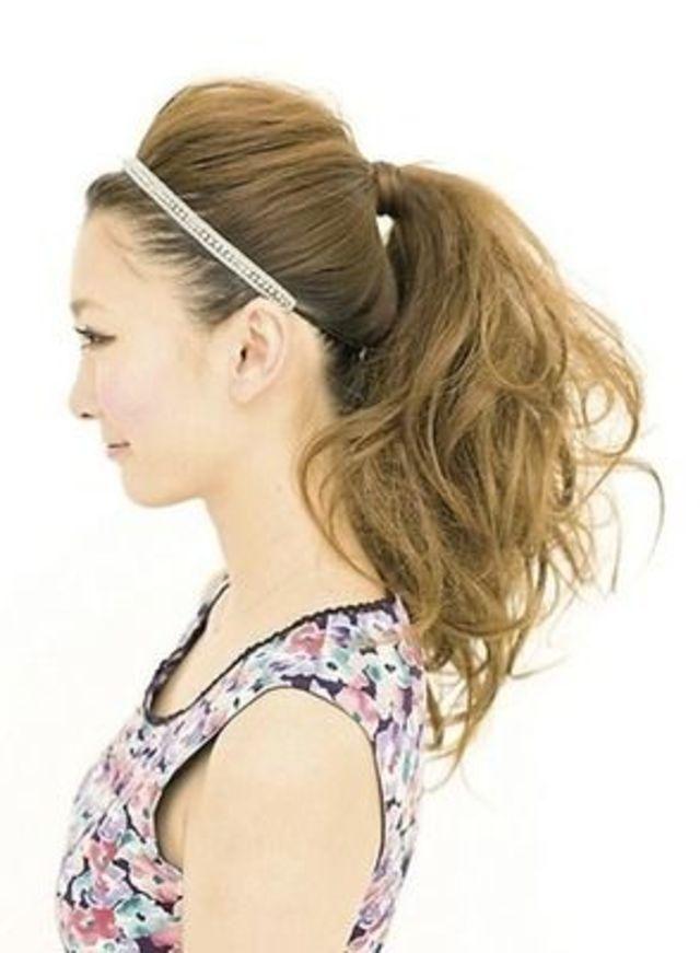 前髪作ってない人必見!ポニーテールの長い前髪アレンジ術♡|マシマロ