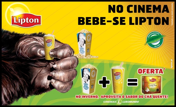 Portfólio - Lipton/ Cinemas LusoMundo by jorge , via Behance