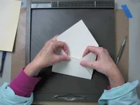 """Learn how quickly and easily you can make beautiful envelopes to match your handmade cards with Stampin' Up!'s Simply Scored Diagonal Plate.  This tutorial shows you how to make a handmade standard sized envelope (4-1/4"""" x 5-1/2"""").  www.stampingmadly.com"""