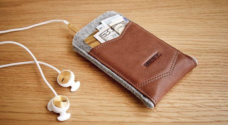 Чехол для телефона // WELT ∙ HANDWERS // Woolfelt & leather goods