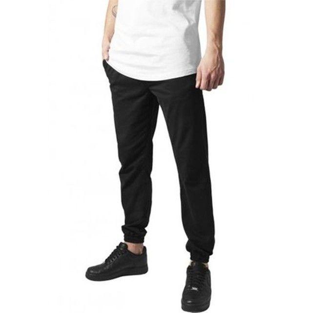 Pantalon Stretch Urban Classics Noir Sergé Coton URBAN CLASSICS