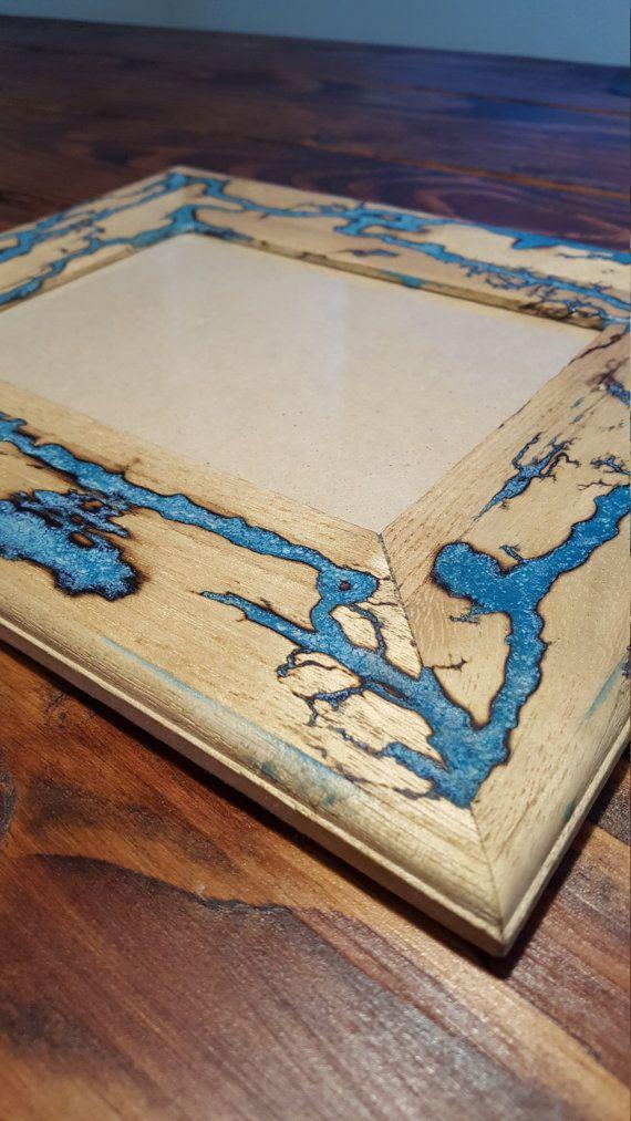 Lichtenberg / Fraktale Kunst / blau Glühen im von PhoenixSparkShop