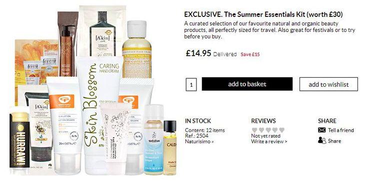 Haul » Summer essentials kit on Naturisimo