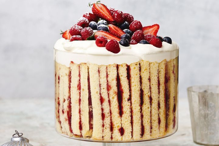 Mixed berry and vanilla bean trifle