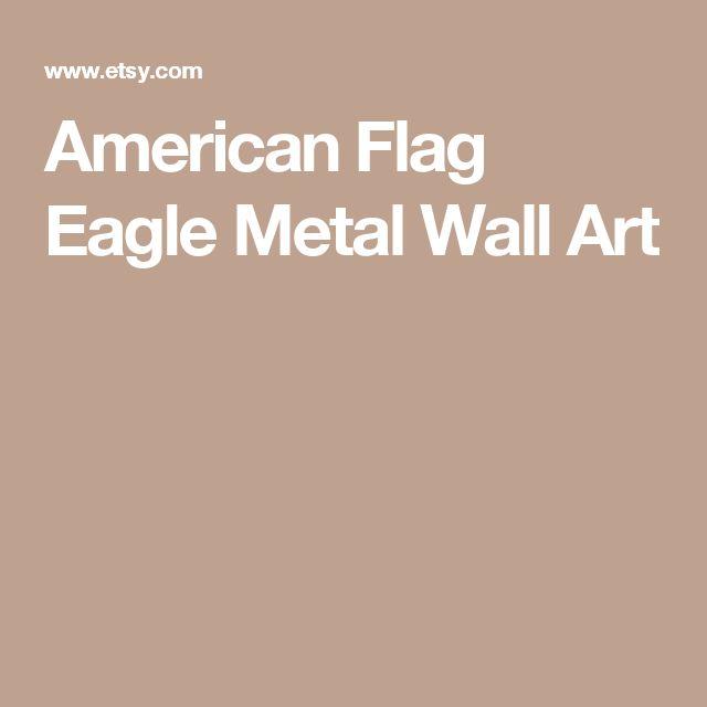 American Flag Eagle Metal Wall Art