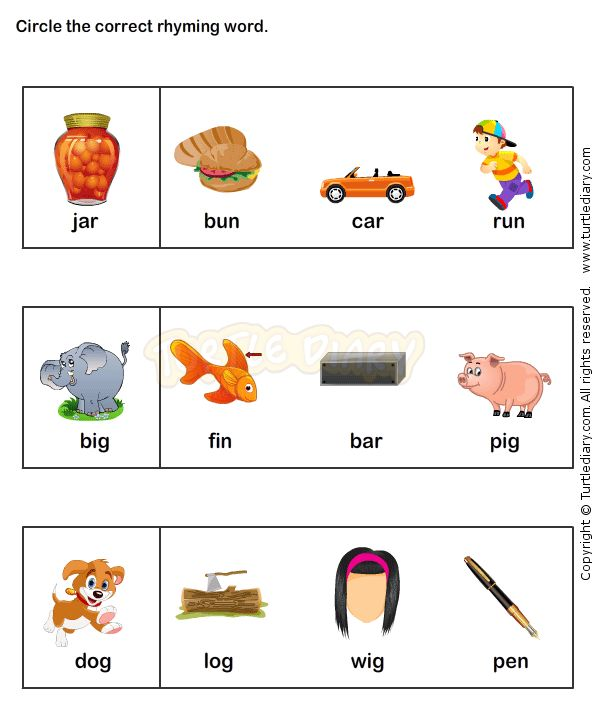 Find the Rhyme Kindergarten Language Arts Worksheets JumpStart – Language Arts Worksheets Kindergarten
