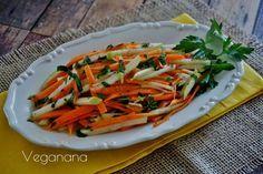 Salada Agridoce de Cenoura com Maçã Verde - Veganana