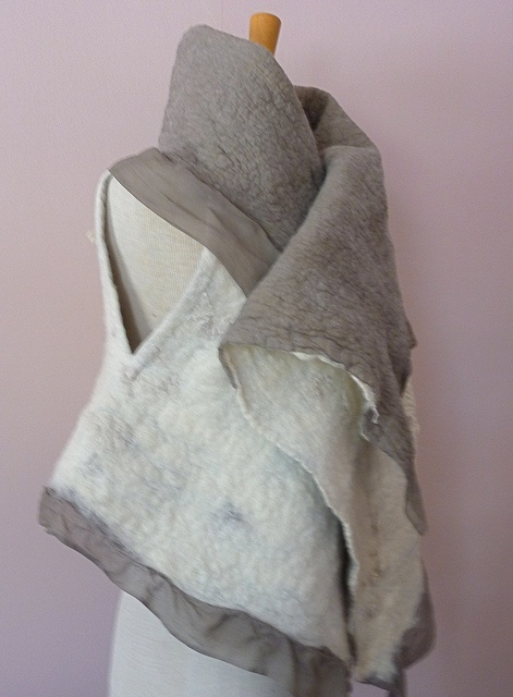 Nuno vest with silk noil  tinct handdyes  fiber alchemist  Pittsburgh, PA