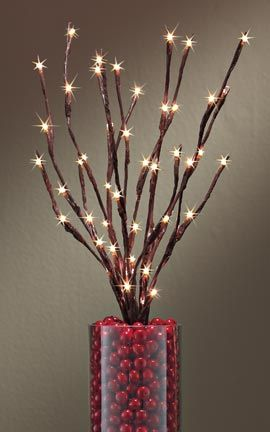 Battery Operated Lighted Willow Branch Instantly Create A Magical Effect Anywhere In Your Home 29 98 For The Pinterest Christmas