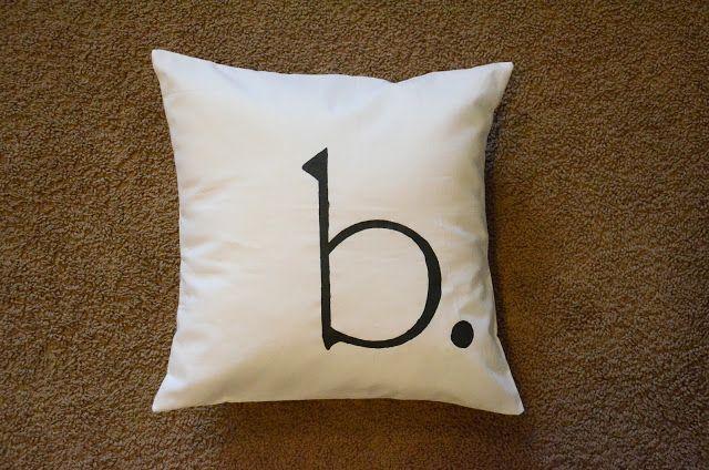 Monogrammed Throw Pillow Tutorial Monogram Pillows Throw