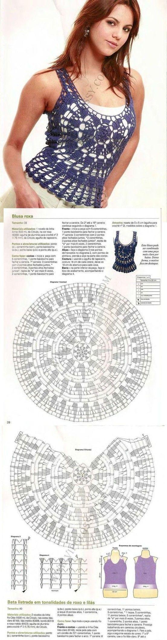 Luty Artes Crochet: Top em Crochê + PAP