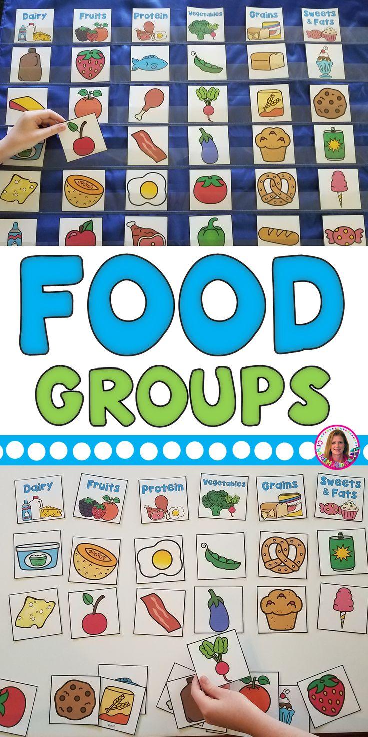 DOLLAR DEAL Food Groups Pocket Chart Sort Learning Center