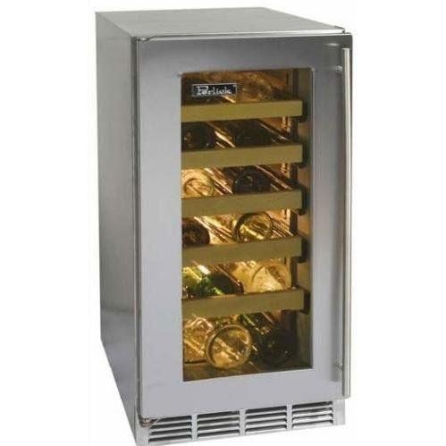 Perlick Hp15ws-4r 27 Bottle Freestanding Wine Cooler With Integrated Wood Overlay Glass Door - Requires Custom Panels by Perlick. $2899.00. Perlick HP15WS-4R 27 Bottle Freestanding Wine Cooler With Integrated Wood Overlay Glass Door - Requires Custom Panels. HP15WS-4R. 20-32 Bottle Wine Cooler Refrigerators. This Perlick Freestanding 15 Inch Wine Cooler with Integrated Wood Overlay Glass Door Hinge Right provides unmatched temperature uniformity, courtesy of the exc...
