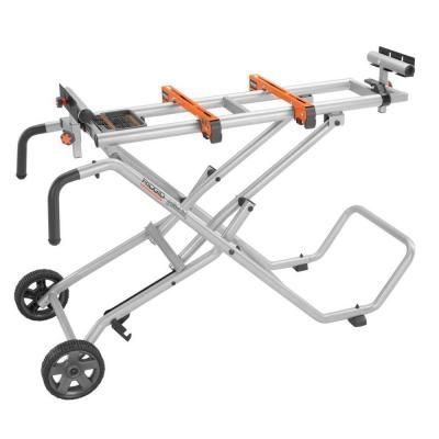 RIDGID Mobile Miter Saw Stand-AC9945 - The Home Depot RIDGID    Model # AC9945Internet # 202673168	 Store SKU # 984386 Mobile Miter Saw Stand   $149.00 / each