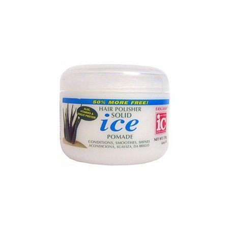 IC Fantasia - Hair Polisher Solid Ice Pomade.  Le Solid Ice Pomade est un produit coiffant résistant à l'eau, à l'humidité. Défrise, redresse, lisse et dompte les cheveux indisciplinés ou autres frisottis. Permet une meilleure maniabilité et un meilleur contrôle des cheveux. Idéal  pour modeler, sculpter, lisser.