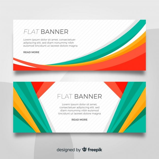 Download Flat Banner Template For Free Website Banner Design Banner Template Web Banner Design