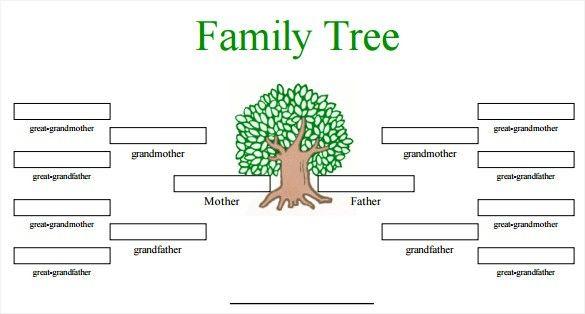 Free Family Tree Template Word Editable Family Tree Free Editable