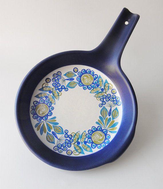 Poêle en céramique Vintage Pan Figgjo Flint Flameware par Chixycoco