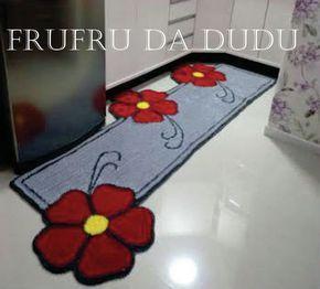Tapete Frufru para Cozinha Flor