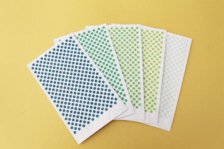 """Sacchetti carta piccoli pois Serie """"A dream in color"""" 9x15cm Flat paper bags di PickaPack su Etsy"""