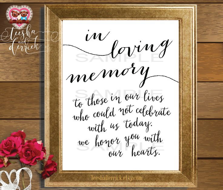 Quotes For Departed Loved Ones: Best 25+ Wedding Memorial Table Ideas On Pinterest