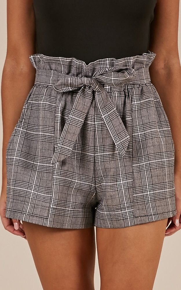 All Rounder Shorts In Grey Check Produced – Ropa tumblr