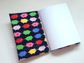 Blog sklepu House of Cotton: Jak zrobić notes i okładkę na książkę / Laminated cotton notebook DIY