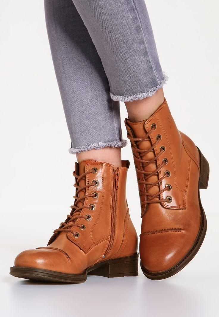 Ten Points Lace-up boots - cognac - Zalando.co.uk