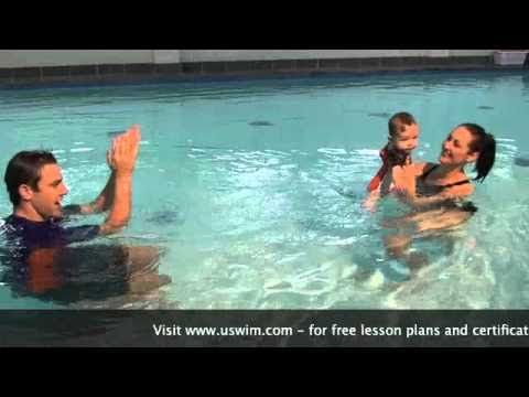 uSwim, Level 1, skill 4 - submersions how to teach your baby to swim, swimming lessons
