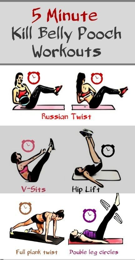 Lower Belly Pooch, 5 Minute Powerful Workouts To Kill it