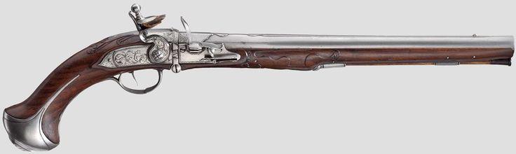 Казнозарядный кремневый пистолет начала 18 века (Johann Christoph Peter)
