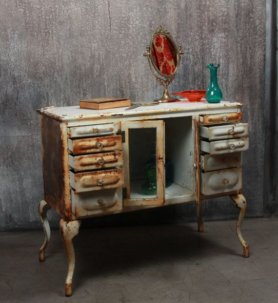 Distressed Dental Cabinet U2013 FleaPop   Buy And Sell Home Decor, Furniture  And Antiques
