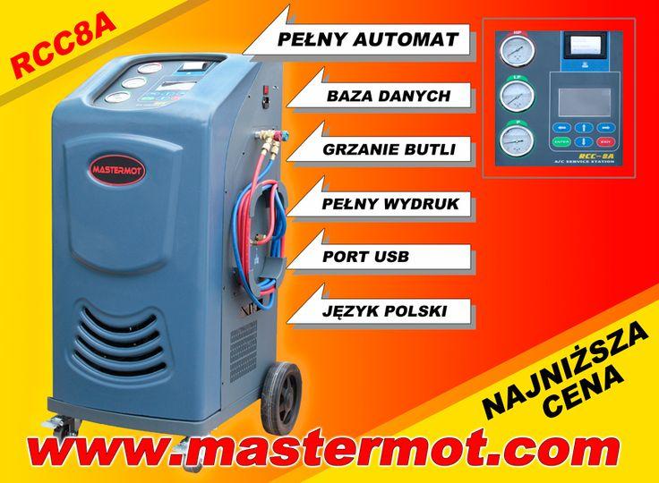 Automatyczne urządzenie do obsługi klimatyzacji samochodowych RCC8A importer www.mastermot.com