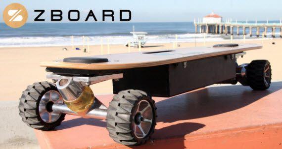 Zboard Motorized Skateboard Features Foot Pad Controls