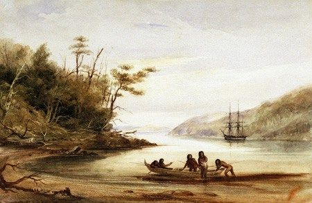 Portrait Cove, Beagle Channel, Tierra del Fuego, 1834 – one of Conrad Martens paintings from the Beagle Voyage