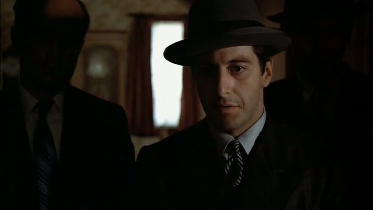 """""""The Godfather"""" (Paramount Pictures/1972) ~ """"You have to answer for Santino, Carlo. You fingered Sonny for the Barzini people. Ah, that little farce you played with my sister. You think that would fool a Corleone?"""" ~ MIchael Corleone"""