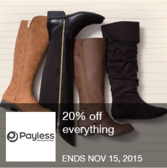 Payless Coupon - 20% Off everything with an I'm in! Coupon found