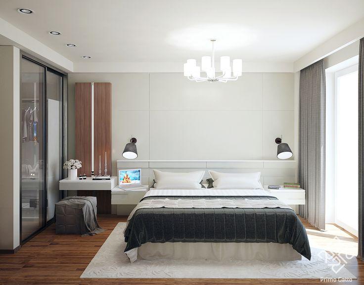 Спальня в современном стиле. Спокойная цветовая гамма, простота и лаконичность – вот, что часто нужно нашим заказчикам для ощущения комфорта в своем доме. Архитектор: #pavel_pashkovsky Руководитель: #irina_shevtsova