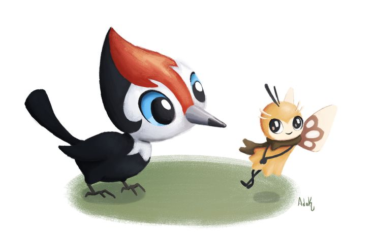 Pikipek meets Ribombee in this Pokemon fanart! by Alicia de Koning