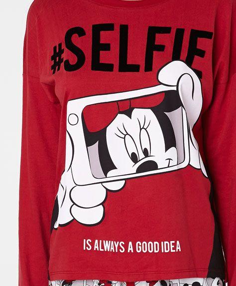 Blusa selfie Minnie - OYSHO