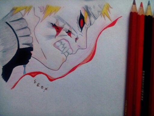 color pencil drawing anime naruto