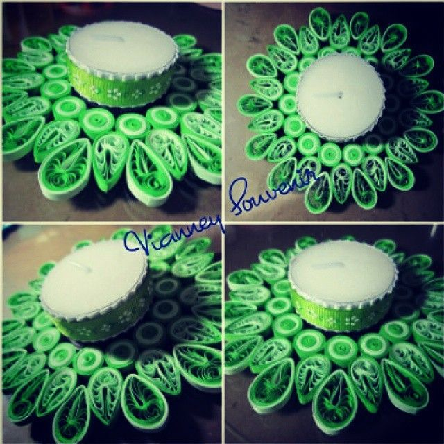 Candle pad green life