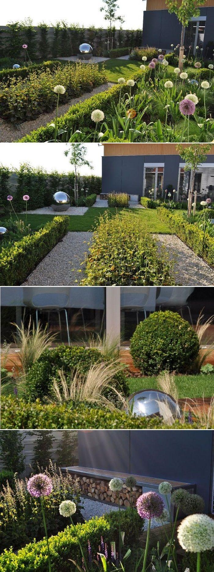 Grand Garden – The Beauty and Simplicity of Modern Landscaping Modern Garden Design in Matúškovo with garden area of 330 m2, built in 2011