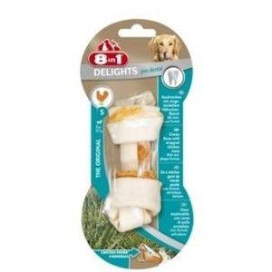 8in1 Европа Кости для чистки зубов с мясом 11 см 1 шт - Интернет зоомагазин Dogstars. Купить корм для собак и кошек в Николаеве