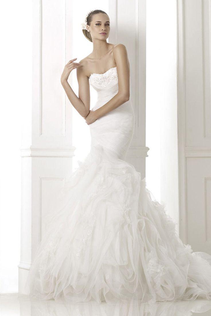 Trumpet Bottom Wedding Dresses : Lace wedding dress mermaid gown trumpet
