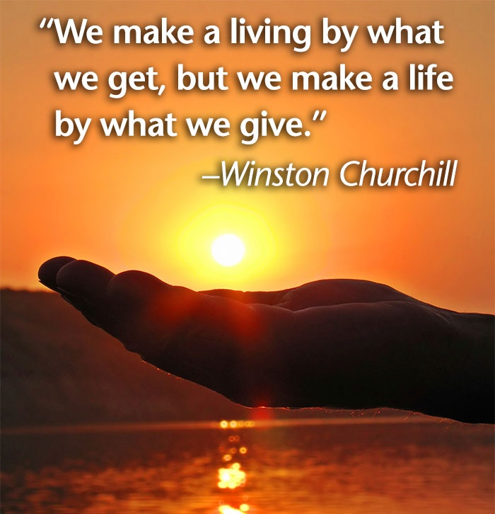 Winston Churchill generosity quote