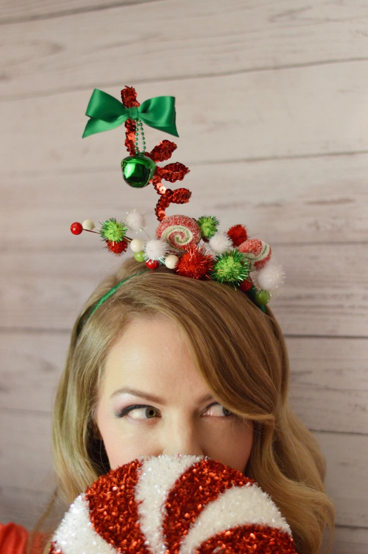 Christmas Headband Adult - Christmas Hair Accessories - Ugly Christmas Sweater - Tacky Ugly Christmas - Whoville Headband Cindy Lou Who by LaurenLashDesignsLLC on Etsy https://www.etsy.com/listing/477205204/christmas-headband-adult-christmas-hair
