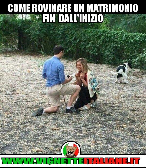 Come rovinare un matrimonio fin dall'inizio :D (www.VignetteItaliane.it)