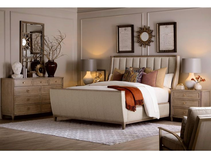 Embassy Home Bedroom 5/0 Chelsea Uph Shelter Sleigh Bed EMB3221452323 Walter E. Smithe Furniture + Design