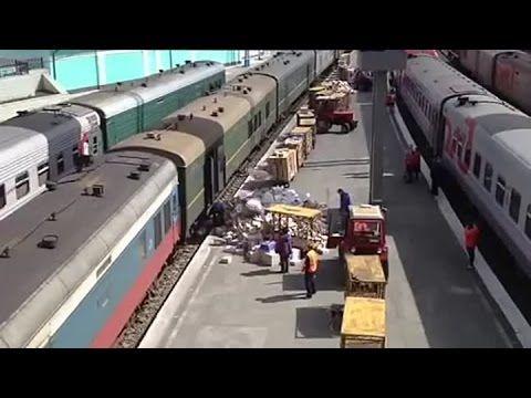 Шок!!Как разгружают почту в Тюмени!!